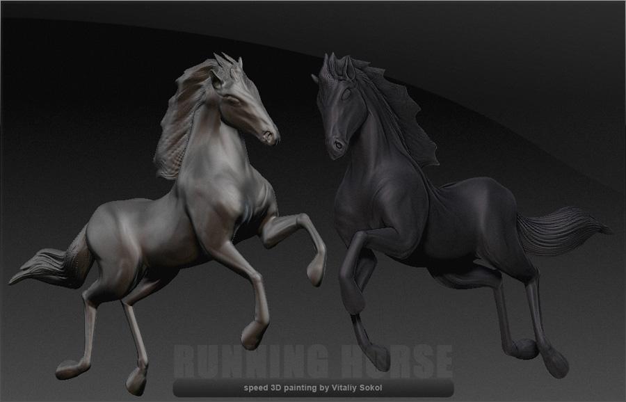 zbrush лошадь