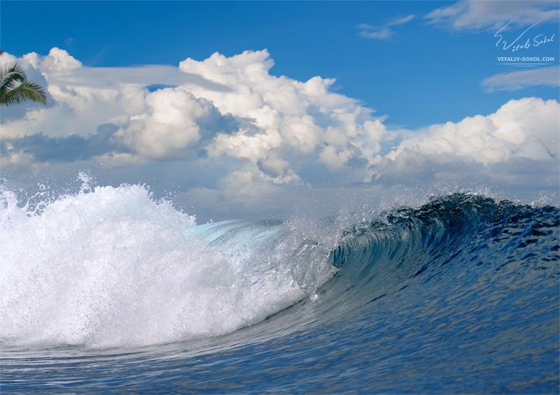 Rough foamy waves