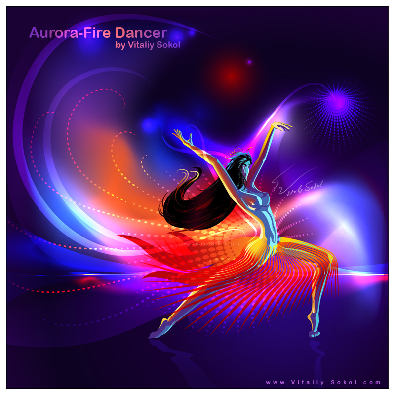Aurora Dancer by Vitaliy Sokol Vector Abstract Background Illustrator CS5