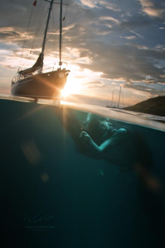 Underwater art nude