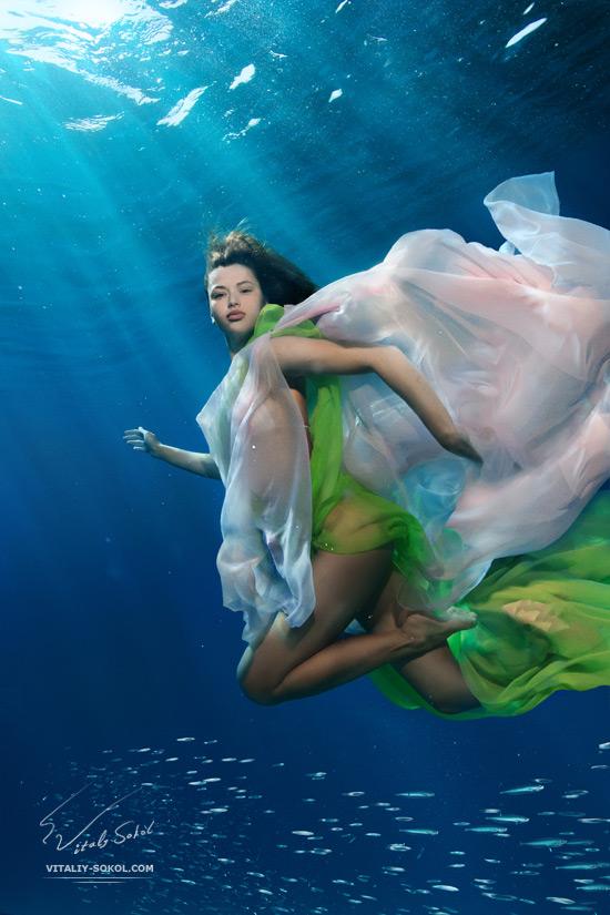 Underwater model by Vitaliy Sokol. Подводная фотосъемка, модели, дайвинг