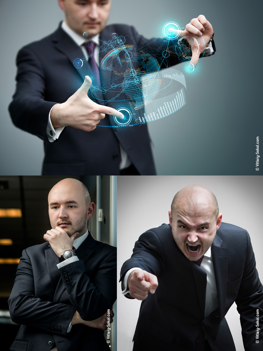 Willyam Bradberry shutterstock portfolio. Businessman. Angry boss. Virtual business