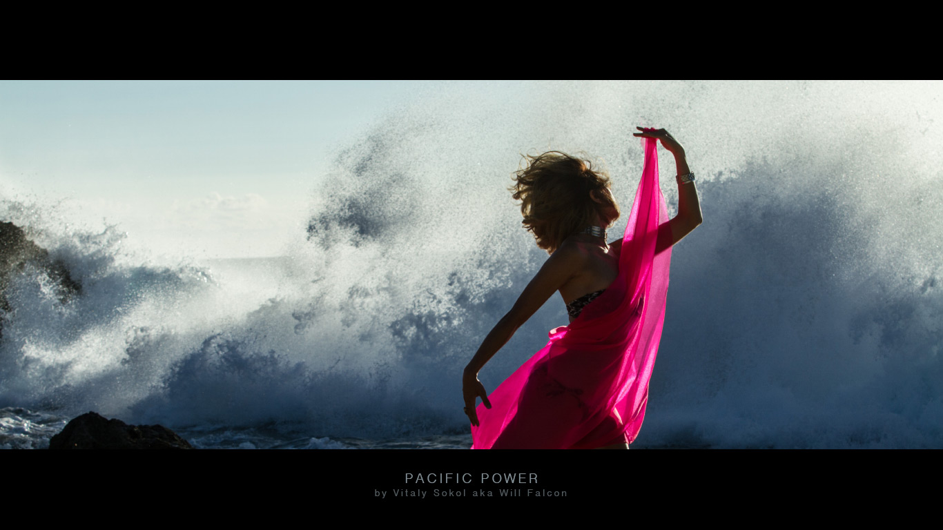A stand in ocean wave splash. Pacific-Power-IMG_1387 by Vitaliyv Sokol aka Will Falcon